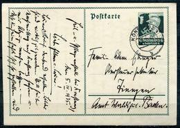 """German Empires,DR 1935 GS Mi.Nr.P253""""Nothilfe-SA Mann,Hoheitszeichen""""Konstanz-Baden""""1 GS Used - Deutschland"""