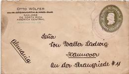 Postal History Cover: Costa Rica Postal Stationery Cover 20 Centavos Colomb - Bolivia