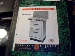 Publicite Ets BRACHET RICHARD FONDERIE A Villieu AIN  Cuisiniere 3 Feux 246 Annee 50 Avec Plan Technique - Publicidad