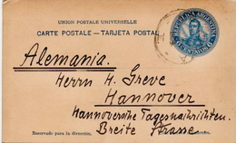 Postal History Cover: Argentina Postal Stationery Card 6 Centavos - Bolivia