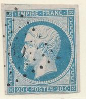 N°14 VARIETE   G.C.739 INDICE 16 - 1853-1860 Napoleon III
