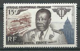 A.E.F. Poste Aérienne YT N°61 Gouverneur Général Eboué Neuf/charnière * - A.E.F. (1936-1958)