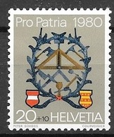 1980 Pro Patria, 20+10, Mint Hinged - Unused Stamps