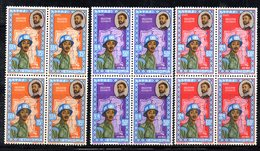 ETP55 - ETIOPIA 1962 , POSTA AEREA Yvert Serie In Quartina Yvert N 68/70  ***  MNH - Etiopia
