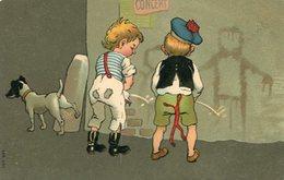 DOS NIÑOS Y UN PERRO ORINANDO / TWO BOYS AND A DOG PEEING - ILLUSTRATION POST CARD POSTAL SER 543 CIRCULATED 1907 -LILHU - Humorkaarten