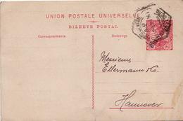 Postal History Cover: Portugal Postal Stationery Card Republica Overprint - 1910-... Republic