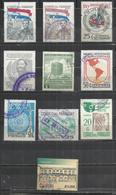TEN AT A TIME - PARAGUAY - LOT OF 10 DIFFERENT COMMEMORATIVE 11  - USED OBLITERE GESTEMPELT USADO - Paraguay
