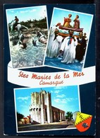 SAINTES MARIES DE LA MER Camargue Multi Vues+Blason CPSM Ecrite En 1971 TBE - Saintes Maries De La Mer