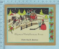 Joyeux Noel - Carte Personnelle De: L'Abbé Charles H. Falardeau De NOTRE-DAME DE GRÂCE À QUÉBEC, C: 1950 - Noël