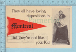 """Montreal - Loving Dispositions.., Cover Sherbrooke 1912, Flame """" Great Eastern Exibition Sherbrooke Aug 31- Sept 7 1912 - Montreal"""