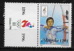 MONGOLIE   N° 2090  * *  Jo 1996 Tir A L Arc - Bogenschiessen