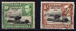 KENYA  UGANDA  &  TANGANYIKA    1952   Royal  Visit   Set  Of  2    USED - Kenya, Uganda & Tanganyika