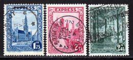 Belgique Express 1929 Yvert 1 / 3 (o) B Oblitere(s) - Belgique