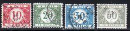 Belgique Taxe 1919 Yvert 27 - 28 - 30 - 31 (o) B Oblitere(s) - Taxes