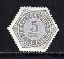 Belgique Telegraphe 1879 Yvert 8 (*) TB Neuf Sans Gomme - Télégraphes