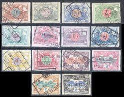 Belgique Colis Postaux 1902 Yvert 28 / 31 - 33 / 42 (o) B Oblitere(s) - Chemins De Fer