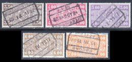 Belgique Colis Postaux 1923 Yvert 155 / 159 (o) B Oblitere(s) - Chemins De Fer