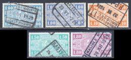 Belgique Colis Postaux 1923 Yvert 146 / 149 (o) B Oblitere(s) - Chemins De Fer