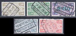 Belgique Colis Postaux 1923 Yvert 150 / 154 (o) B Oblitere(s) - Chemins De Fer