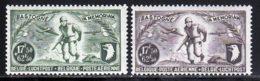 Belgique PA 1946 Yvert 12 / 13 * TB Charniere(s) - Poste Aérienne