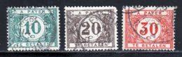 Belgique Taxe 1922 Yvert 33 / 35 (o) B Oblitere(s) - Taxes