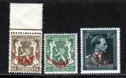 Belgique Service 1944 Yvert 20 - 21 - 35 ** TB - Service