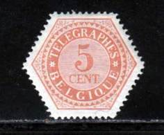 Belgique Telegraphe 1879 Yvert 9 * TB Charniere(s) - Télégraphes