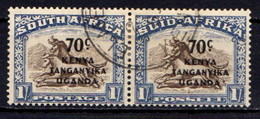 KENYA  UGANDA  &  TANGANYIKA    1941   Stampsd  Of South  Africa  Overprinted   70c  On  1/-  Brown  And  Blue    USED - Kenya, Uganda & Tanganyika