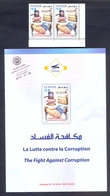Tunisia/Tunisie 2018 - Pair Of Perforated Stamps + Flyer - The Fight Against Corruption - MNH** Excellent Quality - Tunisia