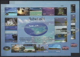 Aitutaki (2010) Yv. Bf. 85 -  With & Without Number /  Islands - Atoll - Beaches - Landscapes - Vakantie & Toerisme