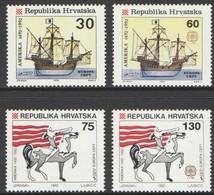 Cept  Europa 1992 Croatie Kroatie Hrvatska Yvertn° 169-172 *** MNH Cote 6,50 Euro - Croatie