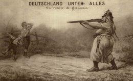 Illustrateur - Ch. Rouviére : DEUTSCHLAND UNTER ALLES - Une Victoire De Germania - Guerra 1914-18