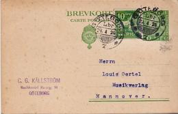 Postal History: Sweden Postal Stationery Card - Sweden