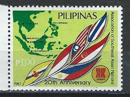 Philippines-Singapore. Scott. # 1882,502-05 MNH. Asean 20th. Anniv. Joint Issue Of 1987 - Joint Issues