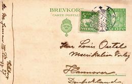 Postal History: Sweden Postal Stationery Card With Porto 10c Cancel - Suède