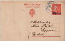 Postal History: Sweden Postal Stationery Card With Revalued Stamp - Suède