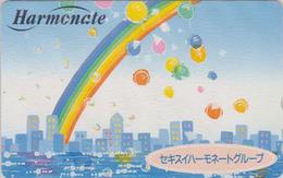 Télécarte Japon / 110-016 - Dessin Jeu D'enfant BALLON & Arc En Ciel - Balloon & Rainbow Japan Phonecard - 160 - Spelletjes