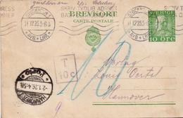 Postal History: Sweden Postal Stationery Card - Suède