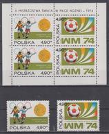 POLAND 1974 FOOTBALL WORLD CUP OLYMPIC GAMES S/SHEET - Fußball-Weltmeisterschaft
