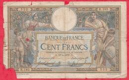 """100 Francs""""Luc Olivier Merson """" Avec Lom Type 1906 Du 18/04/1908.A -Série R.185 (TRES RARE COTE 7000EUROS EN UNC) - 1871-1952 Circulated During XXth"""