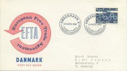 DANIMARCA  - FDC 1967 - E.F.T.A. - EUROPEAN FREE TRADE AGREEMENT - FDC