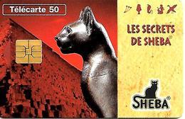 CARTE-n-PUCE-PRIVEE-PUBLIC- 50U-EN1330-SO3-12/95-JG-SHEBA-LA  DEESSE BASTET-UTILISE-TBE - France