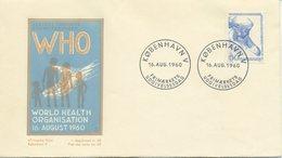 DANIMARCA  - FDC 1960 - EUROPE OF WHO - WORLD HEALT ORGANISATIONT - FDC