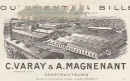 Facture 1927 / VARAY MAGNENANT / Roulements à Billes / 42 J Jaurès / 92 Levallois-Perret - Cars