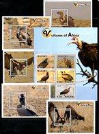 MALAWI, 2018, BIRDS- VULTURES, 5M/S+S/S. MNH**,NEW!! - Birds
