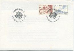DANIMARCA  - FDC 1977  - EUROPA UNITA - CEPT - CON BOLLETTINO INTERNO - FDC