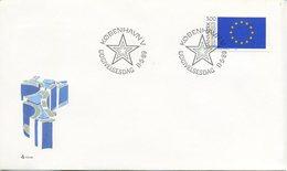 DANIMARCA  - FDC 1989  - EUROPA UNITA - CEPT - ANNULLO SPECIALE - FDC