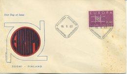 FINLANDIA - FDC 1963  - EUROPA UNITA - CEPT - ANNULLO SPECIALE - DIFETTI - Finlandia