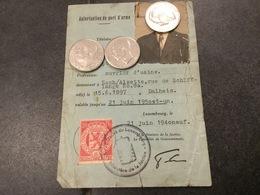 Luxembourg Autorisation De Porte Dˋarme Rare ! - Fiscaux