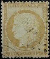 FRANCE Y&T N°55 Cérès 15c Bistre. Oblitéré Losange. - 1871-1875 Cérès